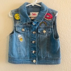Justice Denim Vest With Patches 8/10